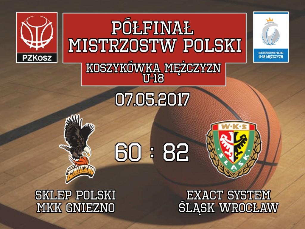 Sklep Polski MKK Gniezno – Exact Systems Śląsk Wrocław mistrzostwa polski koszykówka U18