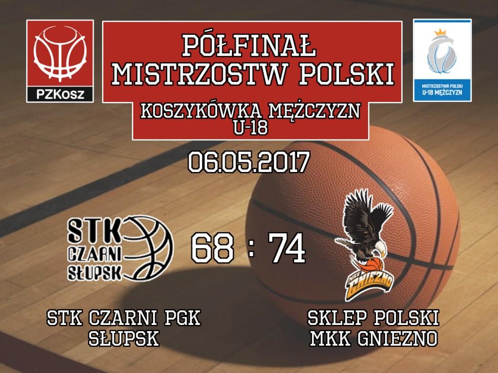 Sklep Polski MKK Gniezno – STK Czarni PGK Słupsk mistrzostwa polski koszykówka U18