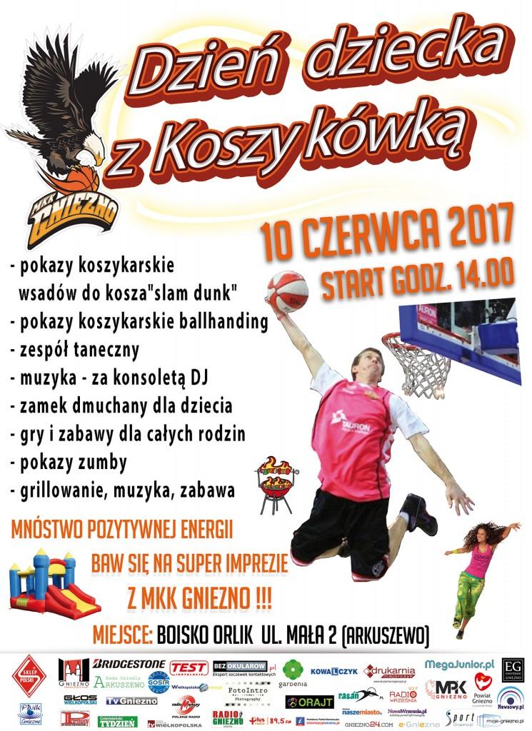 Dzień dziecka z koszykówką 2017 - MKK GNIEZNO majówka koszykówka www