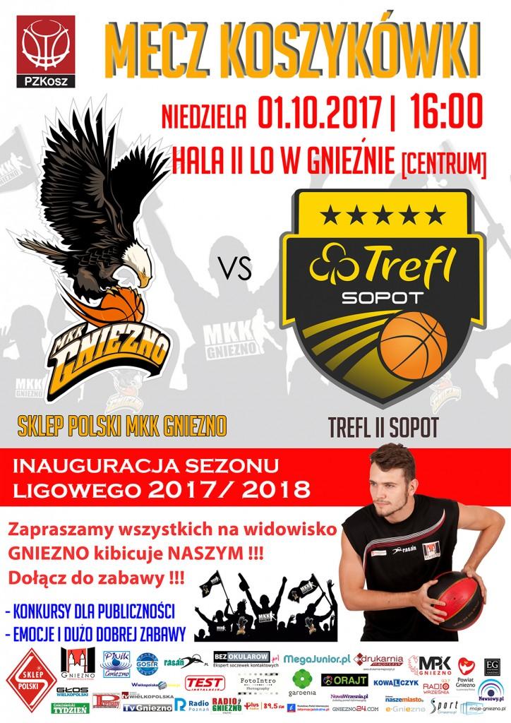 Sklep Polski MKK Gniezno – Trefl Sopot II 2017_10_01 plakat 1920pix
