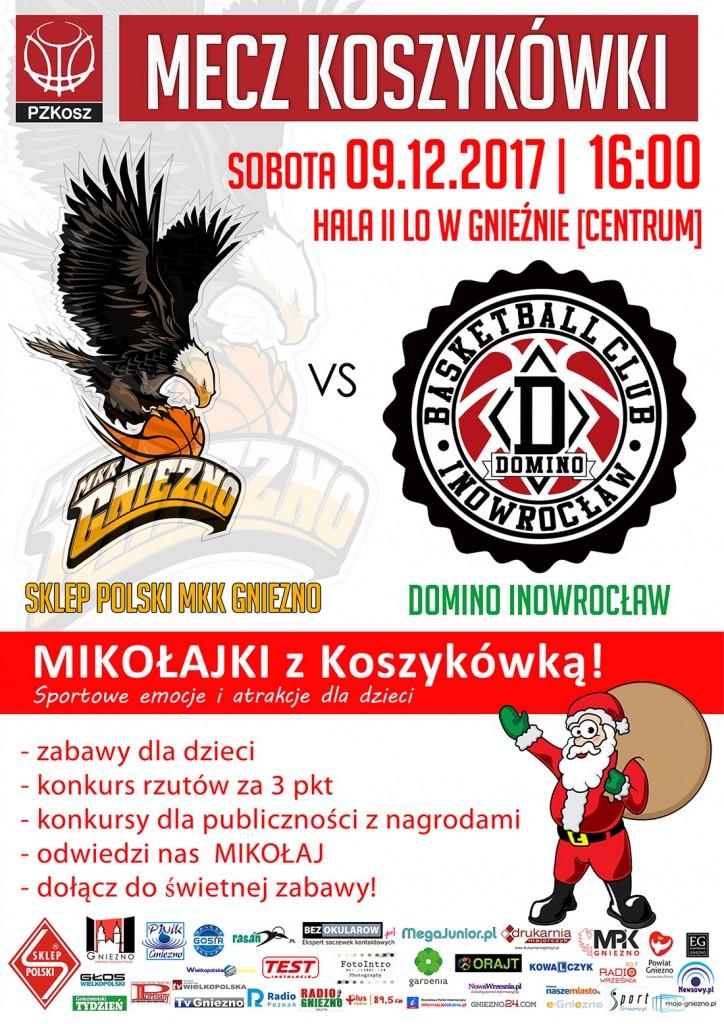 Sklep Polski MKK Gniezno – Domino Inowrocław 2017_12_09 Mikolajki z koszykowka