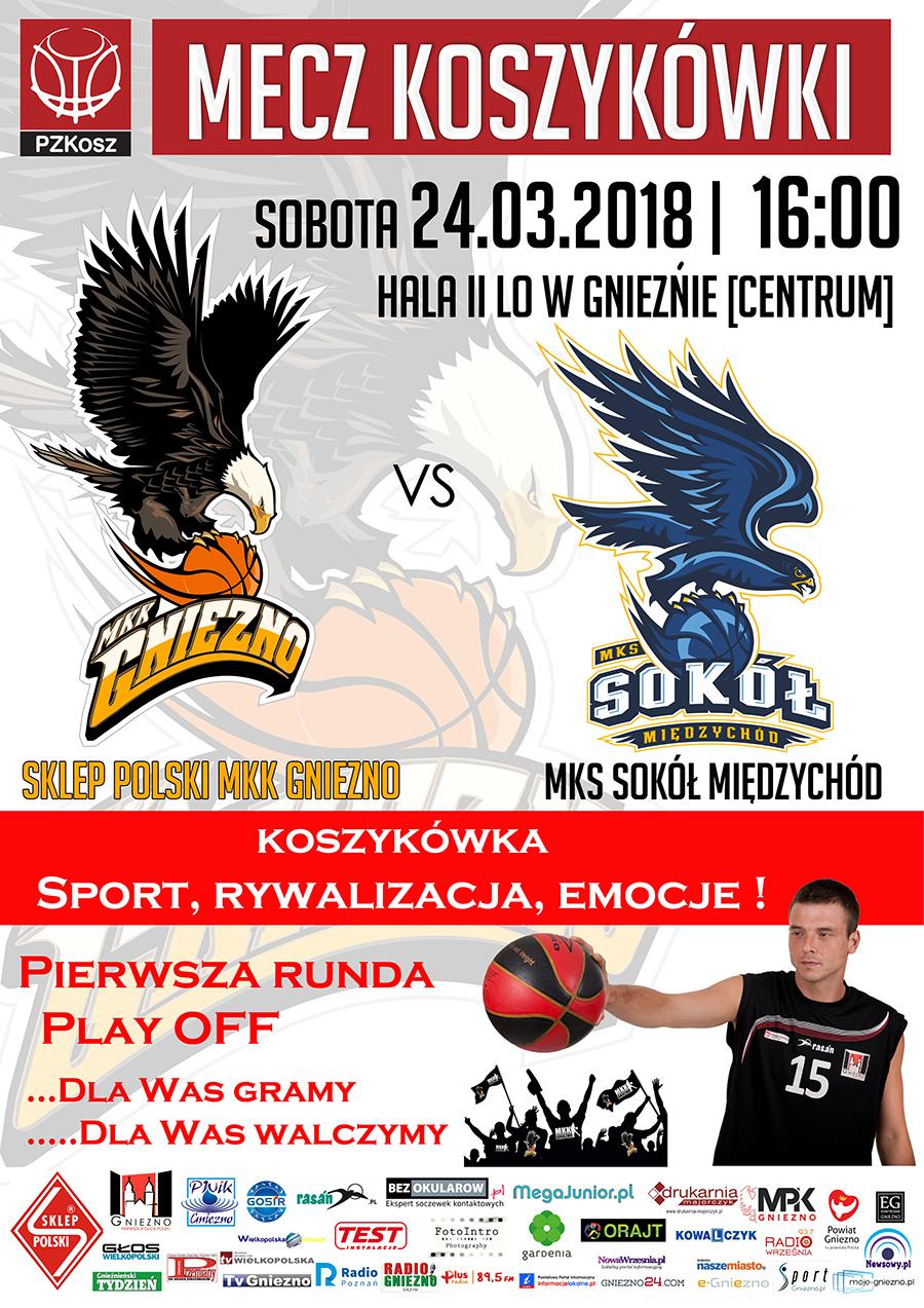 Sklep Polski MKK Gniezno – MKS Sokół Międzychód 2018_03_24 plakat www