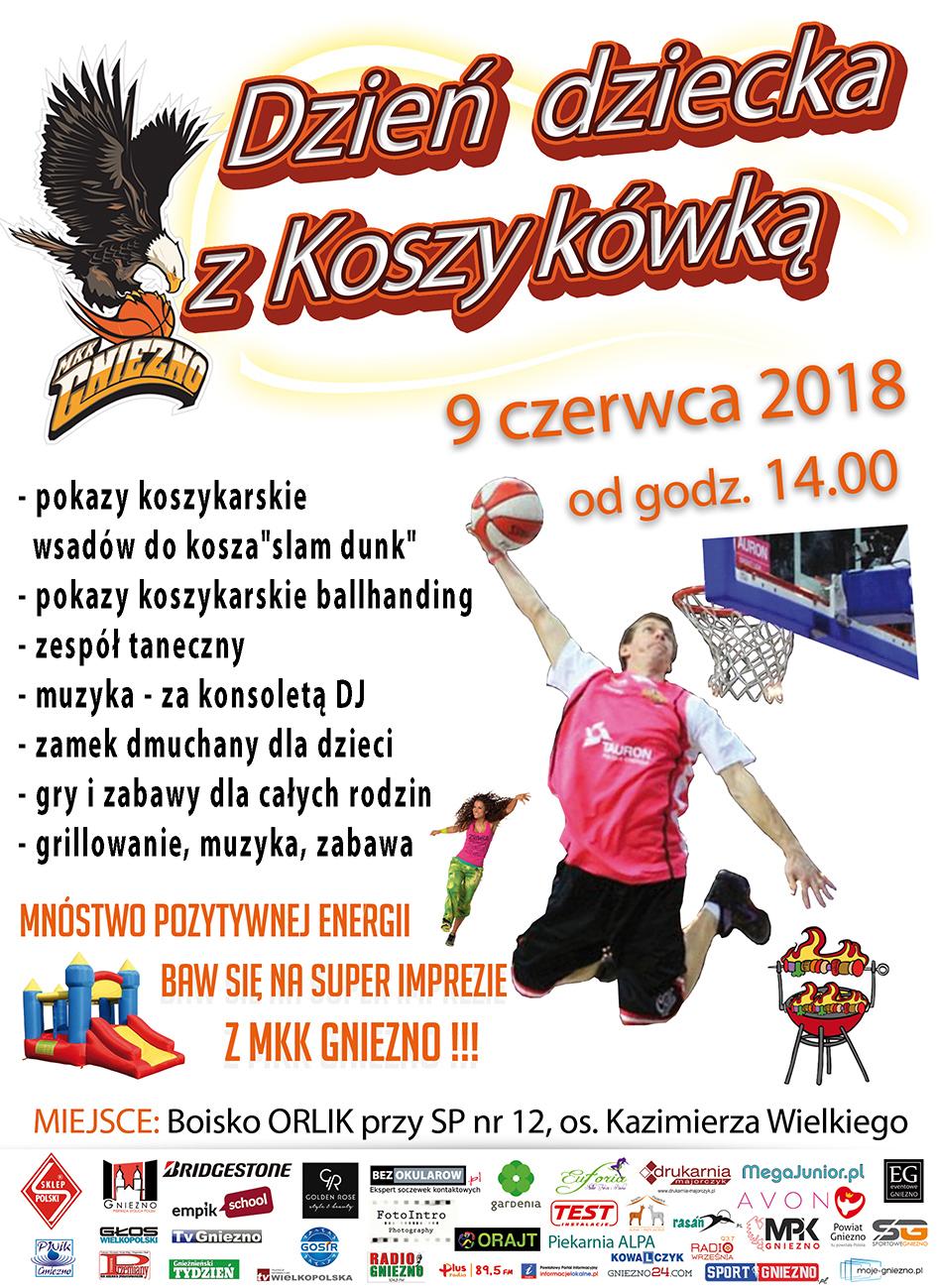 Dzień dziecka z Koszykówka 2018-MKKK GNIEZNO plakat_1920pix